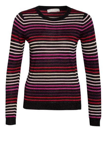 HOBBS Pullover GIGI mit Glitzergarn, Farbe: SCHWARZ/ ROSA/ ROT (Bild 1)