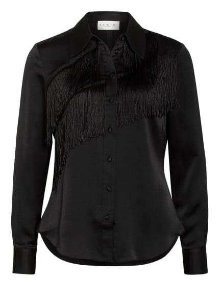 damsel in a dress Bluse BRANWEN mit Fransenbesatz, Farbe: SCHWARZ (Bild 1)