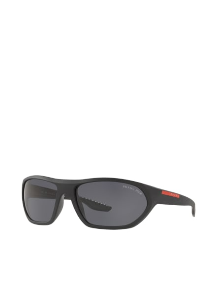 PRADA LINEA ROSSA Sonnenbrille PS 18US, Farbe: 1BO5Z1 - MATT SCHWARZ/ GRAU POLARISIERT (Bild 1)