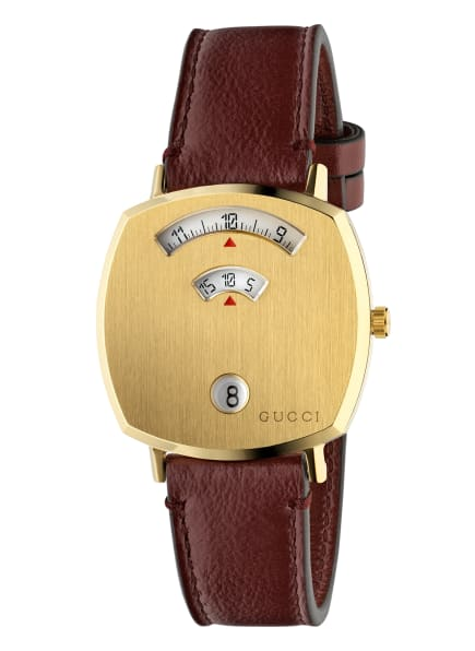 GUCCI Armbanduhr GRIP, Farbe: GOLD/ DUNKELROT (Bild 1)