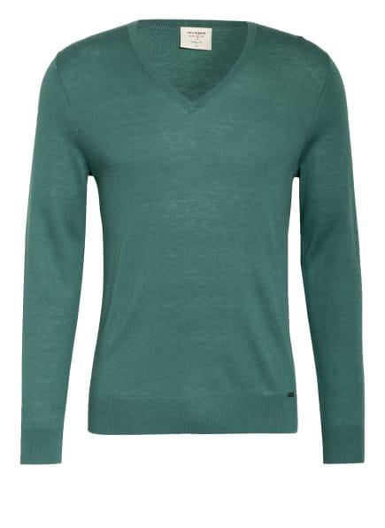 OLYMP Pullover Level Five body fit, Farbe: GRÜN (Bild 1)