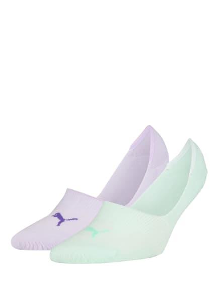 PUMA 2er-Pack Sneakersocken, Farbe: 004 mint/flieder (Bild 1)