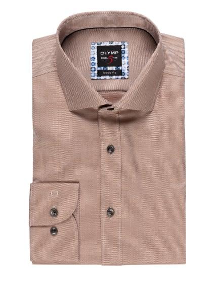 OLYMP Hemd Level Five body fit, Farbe: BEIGE/ WEISS (Bild 1)