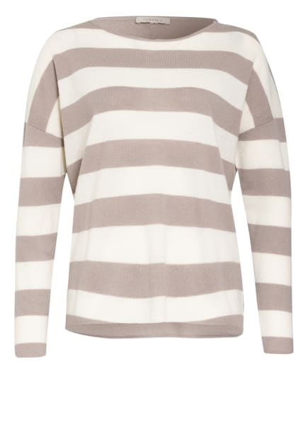 lilienfels Cashmere-Pullover, Farbe: TAUPE/ WEISS (Bild 1)