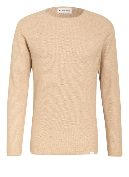 NOWADAYS Pullover THE HONEYCOMB , Farbe: CAMEL/ CREME (Bild 1)