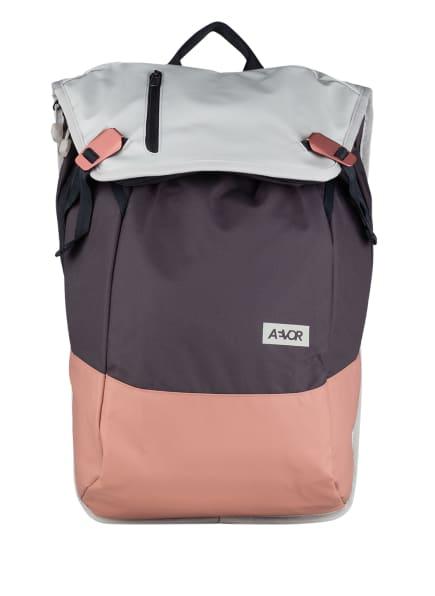 AEVOR Rucksack DAYPACK 18 l (erweiterbar auf 28 l) mit Laptop-Fach, Farbe: GRAU/ HELLGRAU/ NUDE (Bild 1)