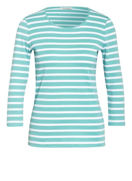 MAERZ MUENCHEN Shirt mit 3/4-Arm, Farbe: GRÜN/ WEISS (Bild 1)
