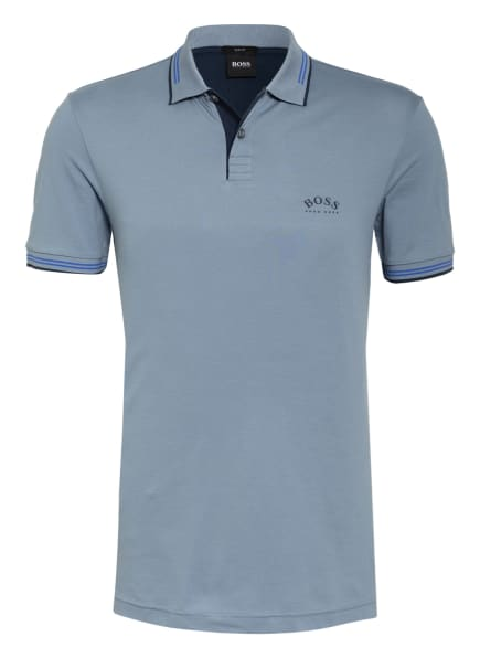 BOSS Piqué-Poloshirt PAUL Slim Fit , Farbe: BLAUGRAU (Bild 1)