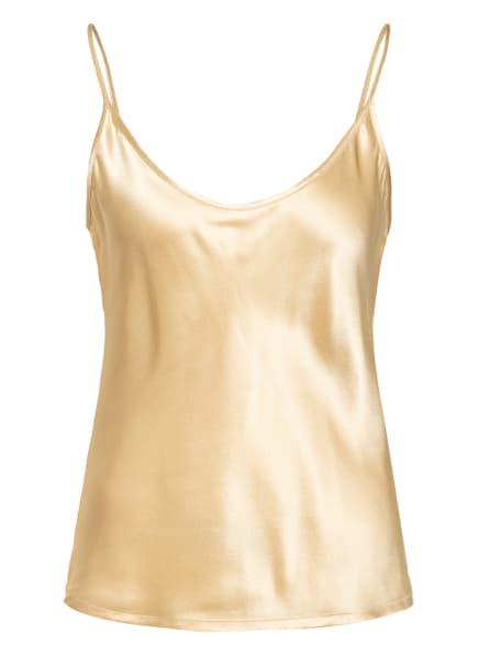 LA PERLA Schlaftop SILK aus Seide, Farbe: GOLD (Bild 1)