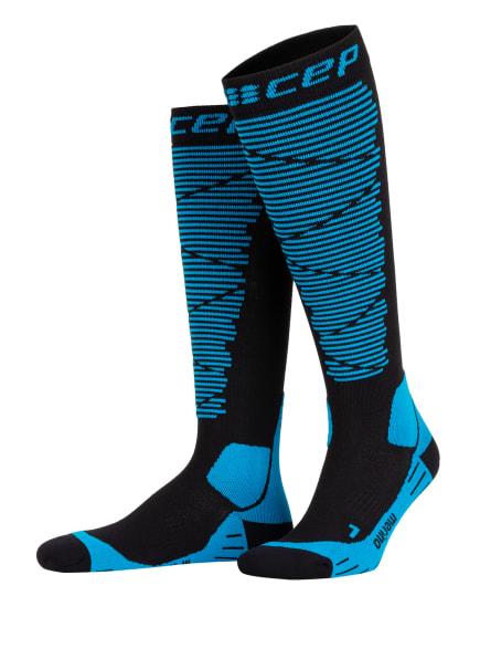 cep Skisocken mit Merinowolle, Farbe: SCHWARZ/ BLAU (Bild 1)