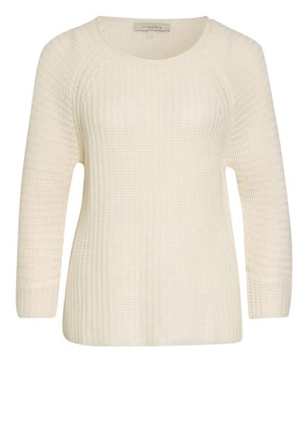 lilienfels Cashmere-Pullover mit 3/4-Arm, Farbe: CREME (Bild 1)