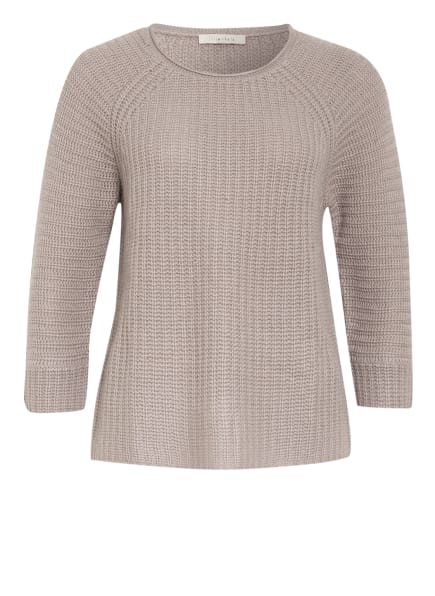 lilienfels Cashmere-Pullover mit 3/4-Arm, Farbe: TAUPE (Bild 1)