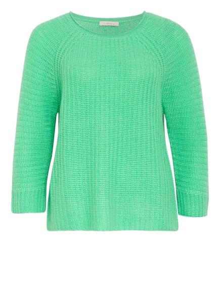 lilienfels Cashmere-Pullover mit 3/4-Arm, Farbe: HELLGRÜN (Bild 1)