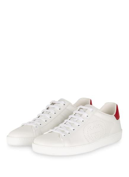 GUCCI Sneaker ACE, Farbe: 9078 BIANCO/BIANCO/HI.RED (Bild 1)