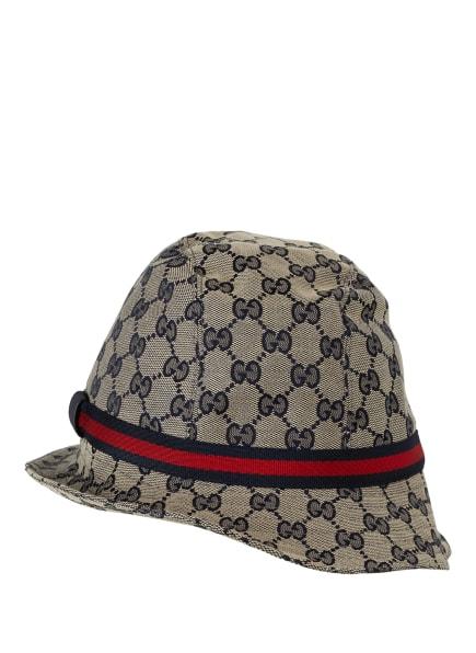 GUCCI Bucket-Hat, Farbe: CREME/ DUNKELBLAU/ ROT (Bild 1)