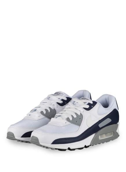 Nike Sneaker AIR MAX 90, Farbe: WEISS/ DUNKELBLAU (Bild 1)