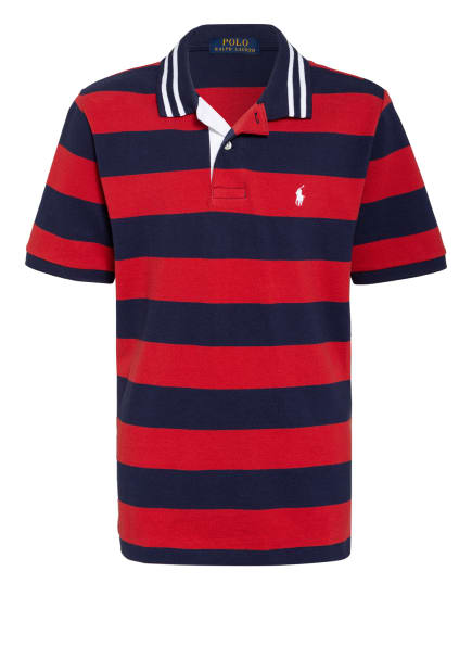 POLO RALPH LAUREN Jersey-Poloshirt, Farbe: DUNKELBLAU/ ROT (Bild 1)