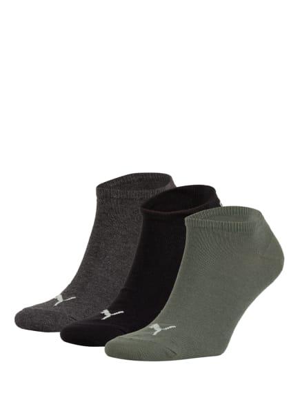 PUMA 3er-Pack Sneakersocken, Farbe: 005 green (Bild 1)