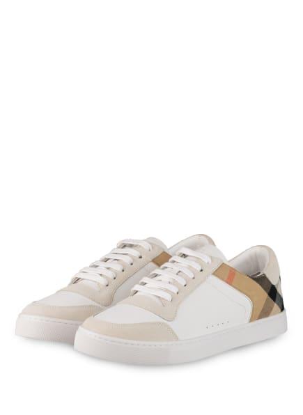 BURBERRY Sneaker NEW REETH , Farbe: WEISS/ BEIGE/ SCHWARZ (Bild 1)