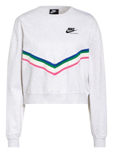 Nike Sweatshirt FLEECE CREW, Farbe: HELLGRAU (Bild 1)