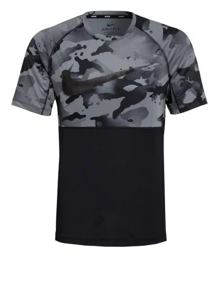 Nike T-Shirt NIKE PRO, Farbe: SCHWARZ/ GRAU (Bild 1)