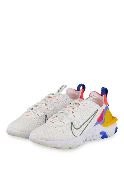 Nike Sneaker REACT VISLON, Farbe: WEISS/ NEONROT/ GELB (Bild 1)