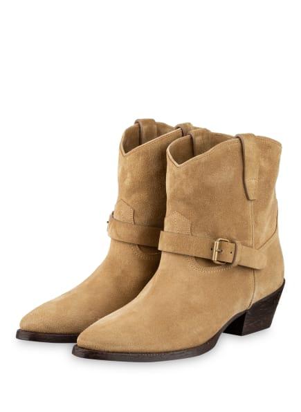 SAINT LAURENT Cowboy Boots, Farbe: BEIGE (Bild 1)
