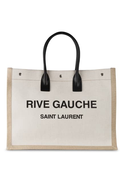 SAINT LAURENT Shopper, Farbe: 9280 BLANC LIN/ NOIR (Bild 1)