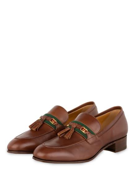 GUCCI Loafer JAKARTA, Farbe: 2260 BROWN (Bild 1)