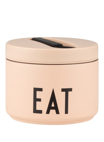 DESIGN LETTERS Thermo-Lunchbox EAT SMALL, Farbe: NUDE/ SCHWARZ (Bild 1)