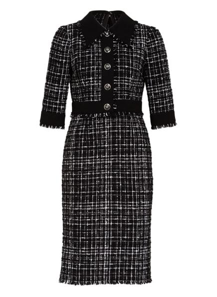 DOLCE&GABBANA Tweed-Kleid mit 3/4-Arm, Farbe: SCHWARZ/ WEISS (Bild 1)