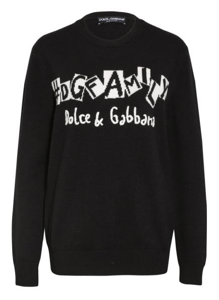 DOLCE&GABBANA Cashmere-Pullover, Farbe: SCHWARZ/ WEISS (Bild 1)