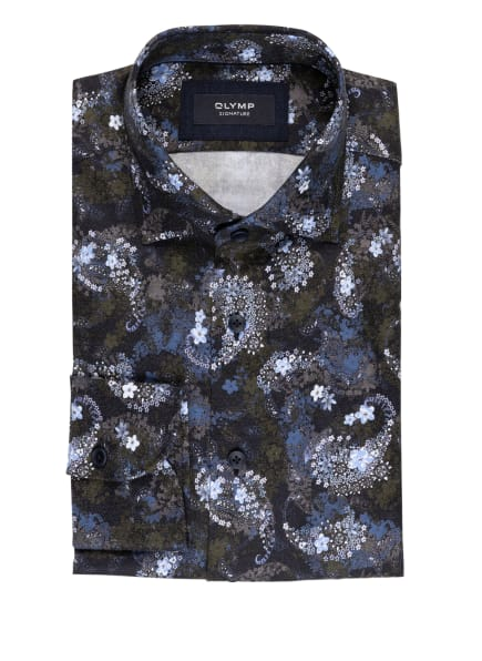 OLYMP SIGNATURE Hemd tailored fit, Farbe: DUNKELBLAU/ HELLBLAU/ GRAU (Bild 1)