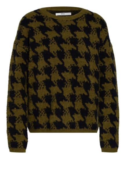 BRAX Pullover LISA , Farbe: OLIV/ SCHWARZ (Bild 1)