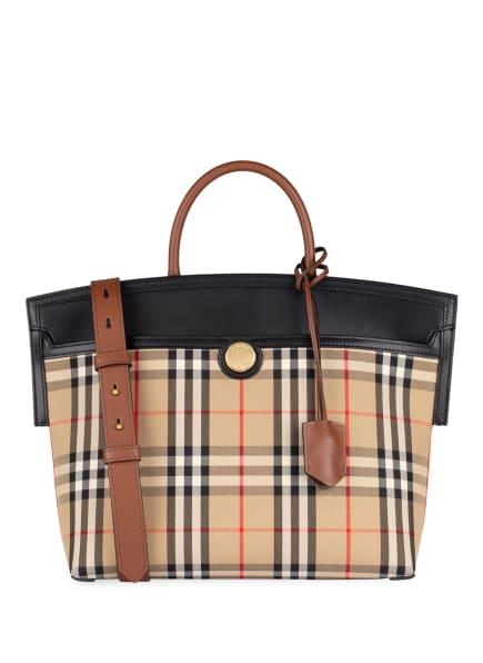 BURBERRY Handtasche SOCIETY MEDIUM, Farbe: BEIGE/ SCHWARZ/ ROT (Bild 1)