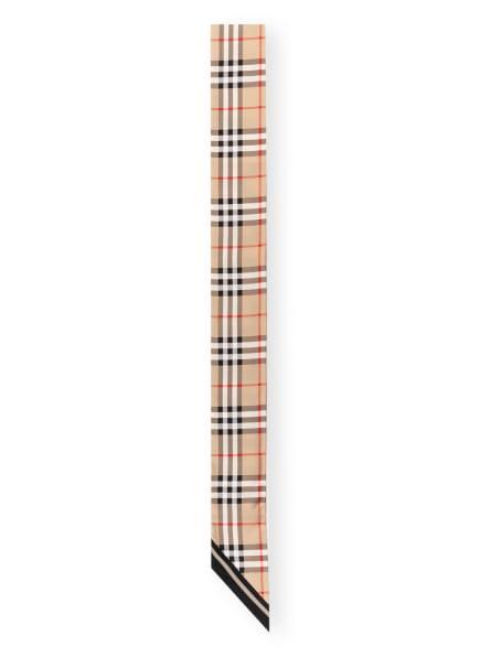 BURBERRY Seidenschal, Farbe: BEIGE/ SCHWARZ/ COGNAC (Bild 1)