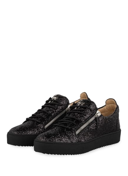 GIUSEPPE ZANOTTI DESIGN Plateau-Sneaker GLITTER, Farbe: SCHWARZ (Bild 1)