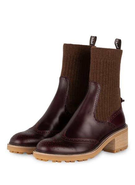 Chloé Boots , Farbe: 55H Perfect Plum (Bild 1)