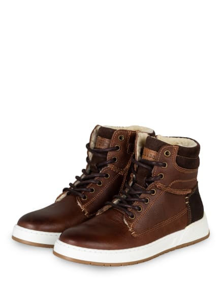 BULLBOXER Hightop-Sneaker, Farbe: BRAUN (Bild 1)
