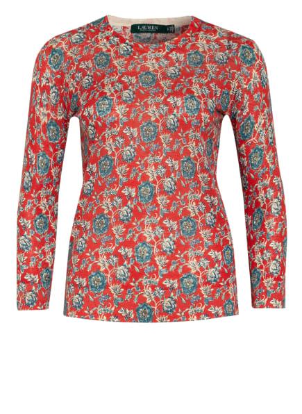 LAUREN RALPH LAUREN Strickshirt mit Leinen, Farbe: ROT/ BLAU/ WEISS (Bild 1)