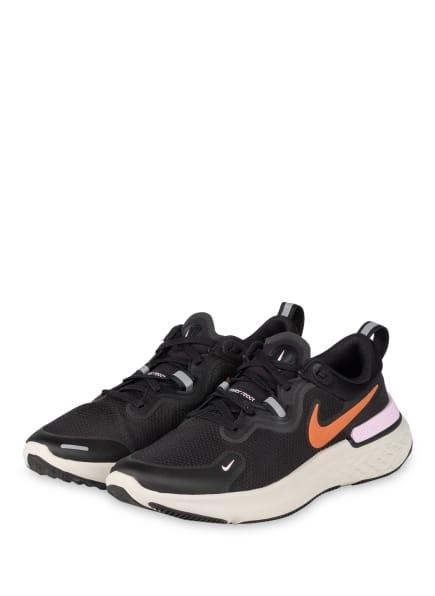 Nike Laufschuhe REACT MILER, Farbe: SCHWARZ/ ORANGE/ ROSA (Bild 1)