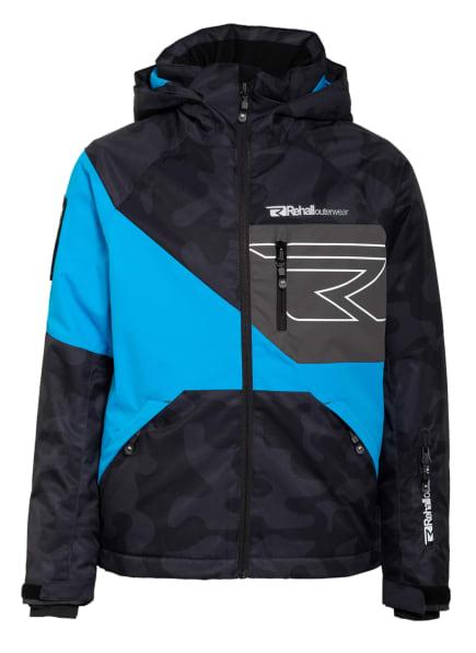 Rehall Skijacke MAINE-R, Farbe: SCHWARZ/ TÜRKIS/ GRAU (Bild 1)