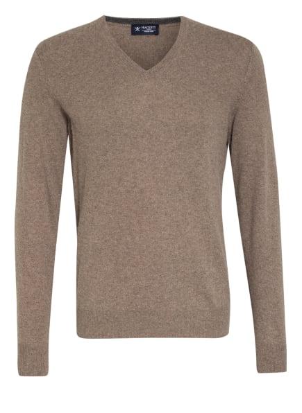 HACKETT LONDON Pullover mit Merinowolle, Farbe: DUNKELBRAUN/ HELLBRAUN (Bild 1)