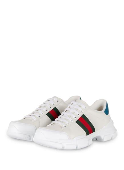 GUCCI Plateau-Sneaker NATHANE, Farbe: 9071 BIANCO/VRV/ZAFFIRO (Bild 1)