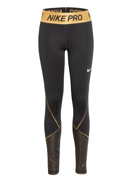 Nike Tights PRO WARM mit Glitzergarn, Farbe: SCHWARZ/ GOLD (Bild 1)
