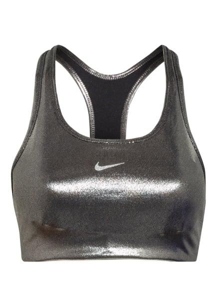 Nike Sport-BH SWOOSH ICON CLASH SHIMMER , Farbe: SILBER (Bild 1)