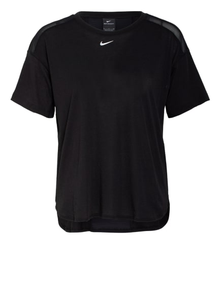 Nike T-Shirt PRO AEROADAPT mit Mesh-Einsätzen, Farbe: SCHWARZ (Bild 1)