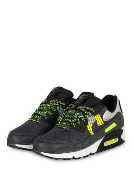 Nike Sneaker AIR MAX 90 , Farbe: PETROL/ DUNKELGRAU/ NEONGRÜN (Bild 1)