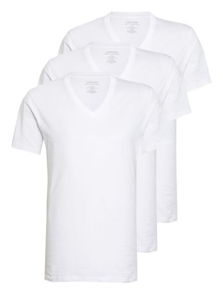 Calvin Klein 3er-Pack V-Shirt, Farbe: WEISS (Bild 1)