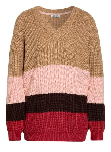 MALVIN Pullover , Farbe: BEIGE/ ROSA/ SCHWARZ (Bild 1)